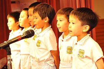 德田幼稚園學生集誦「第子規」