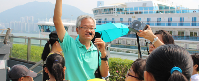aP – HK led the guided tours introducing Kai Tak Cruise Terminal.