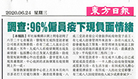 東方日報 — 調查:96%僱員疫下現負面情緒
